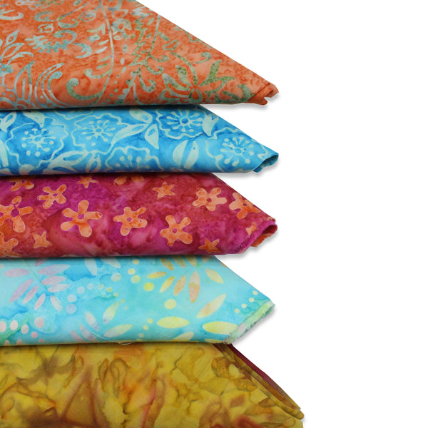 5 Metre 100% Cotton Bali Batik Bundle