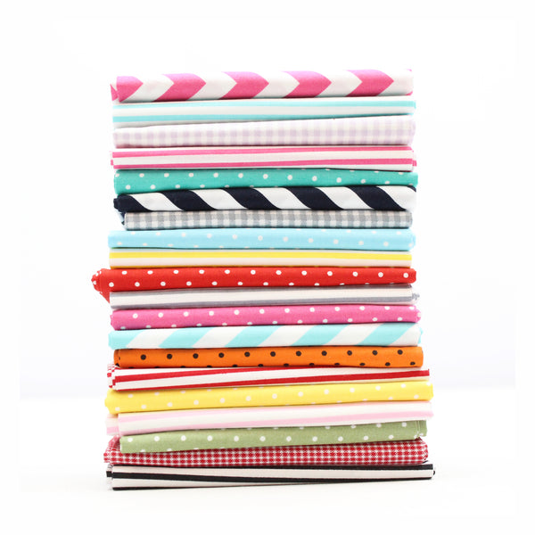 20pc Bundle- 100% Cotton Poplin Fat Quarters