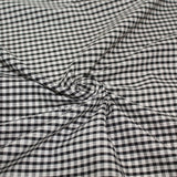 Gingham Checks Woven Polycotton Fabric - 5 Colours 45 Wide Half Metre / Black