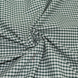 Gingham Checks Woven Polycotton Fabric - 5 Colours 45 Wide Half Metre / Green