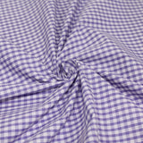 Gingham Checks Woven Polycotton Fabric - 5 Colours 45 Wide Half Metre / Lilac
