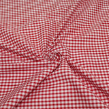 Gingham Checks Woven Polycotton Fabric - 5 Colours 45 Wide Half Metre / Red