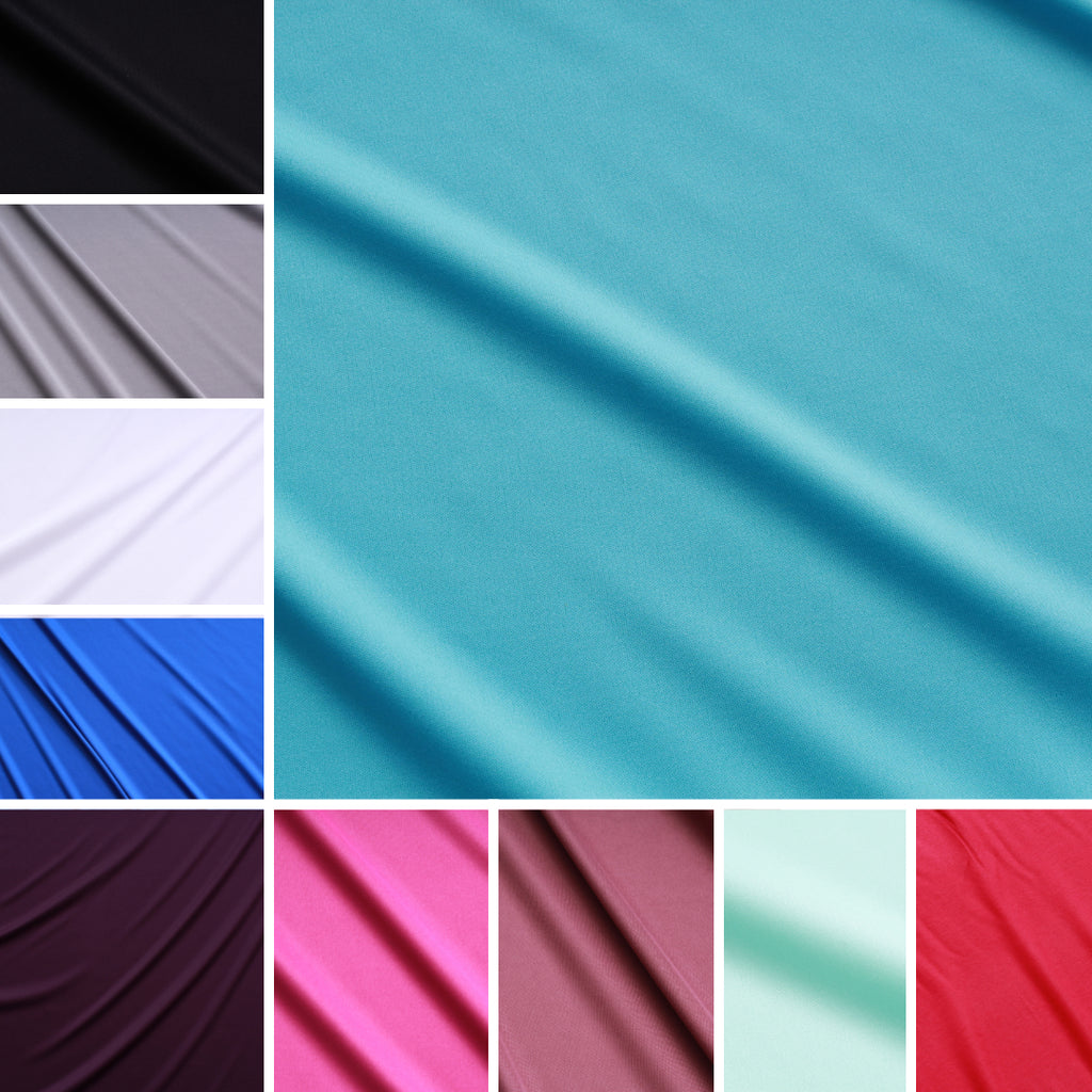 "Polyester Plain Stretch Jersey 55"" Wide- 13 Colours"