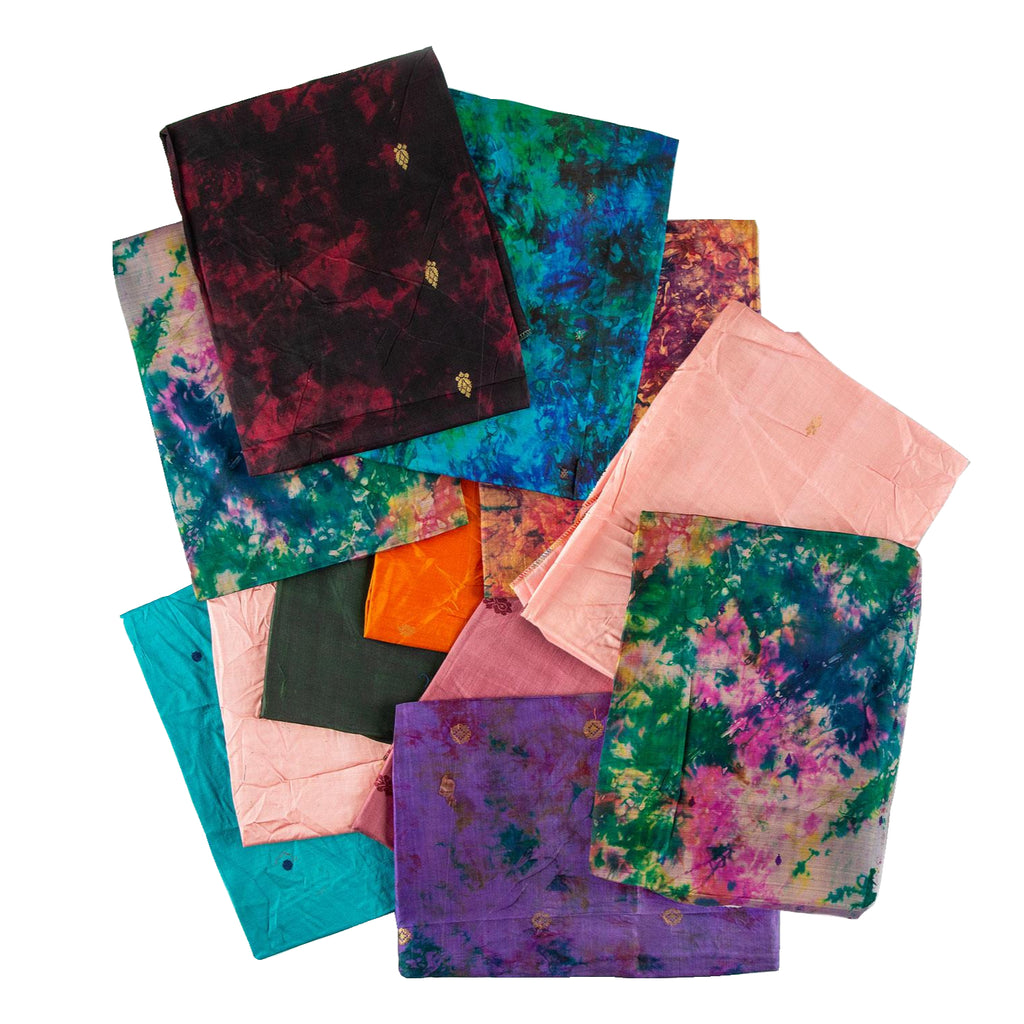 12 x 100% Pure Silk Scarves- Assorted Colours- Min Size- 85cm x 85cm