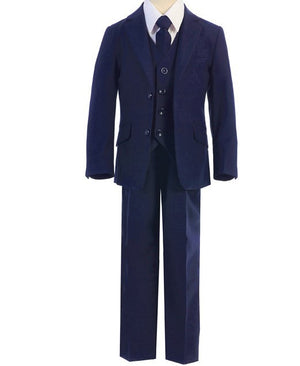 Load image into Gallery viewer, 694 Fouger 5 Piece Slim Fit Suit | Navy | 3-7 Years
