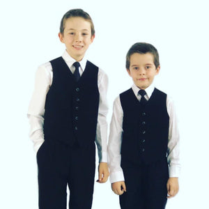 Load image into Gallery viewer, Lito 4 piece Vest Set | Black & White | 8-16 Yrs