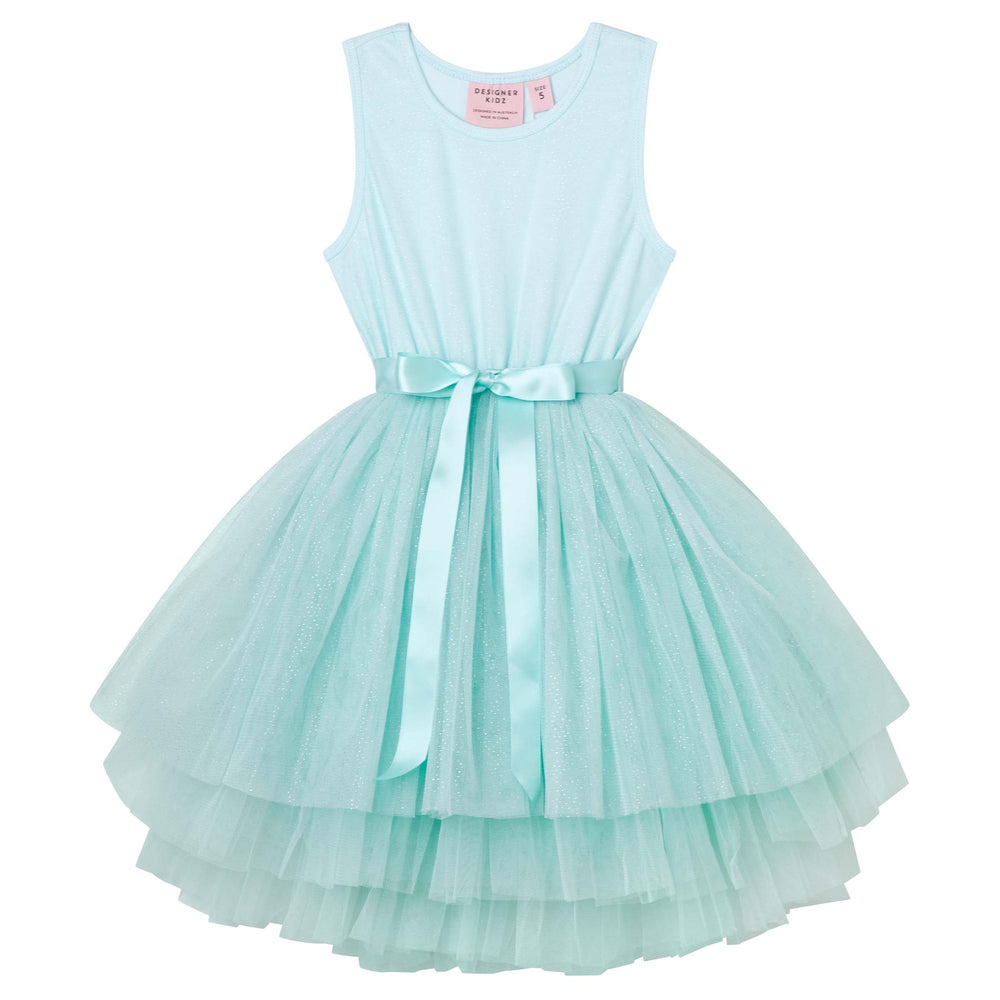 Ice Princess S/S Tutu Dress Aqua