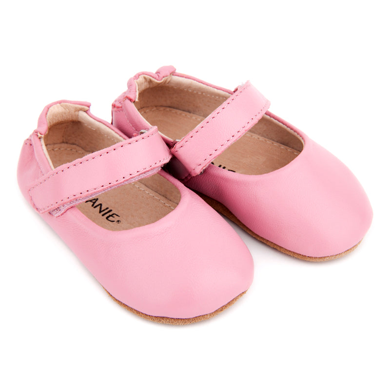 Load image into Gallery viewer, Pre-Walker Leather Lady Jane Shoes Pink