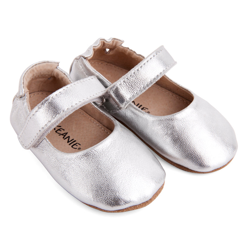 Pre-walker Leather Lady Jane Shoes Silver