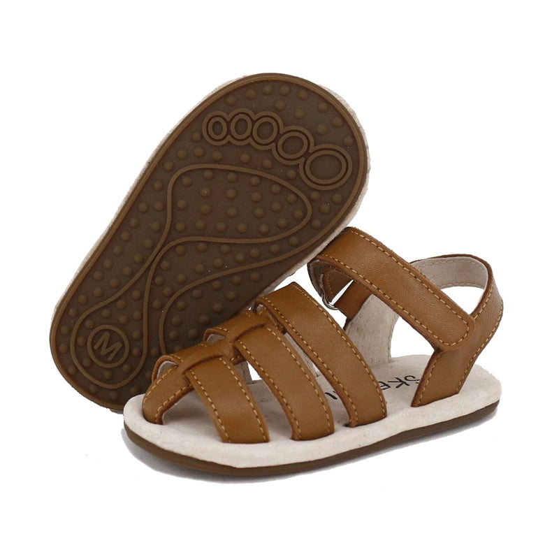 Pre-walker Leather Ziggie Sandals Tan