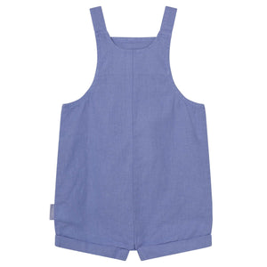 Linen Overalls Pacific Blue
