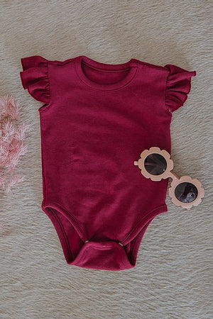 Load image into Gallery viewer, Ruffle Bodysuit - Wild Berry