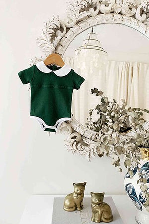 Peter Pan Bodysuit - Wilding Forest Green