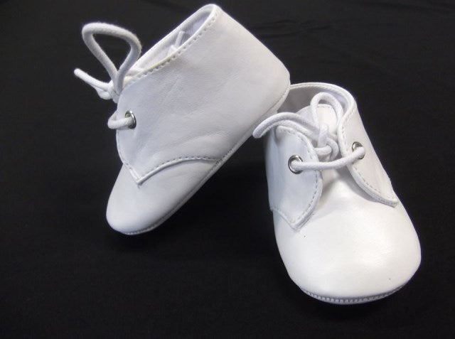 White PU Lace Up Booties