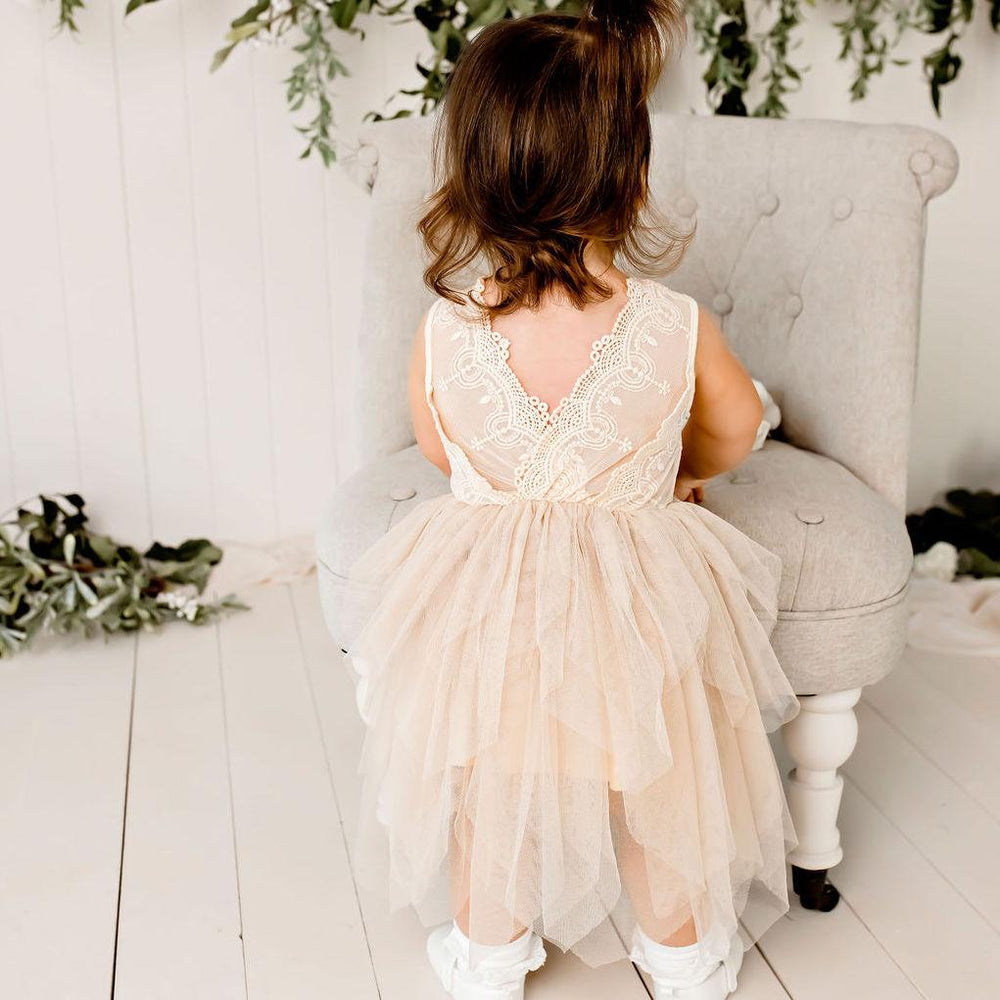 Load image into Gallery viewer, Sophie Lace Bodice Tutu Dress Beige