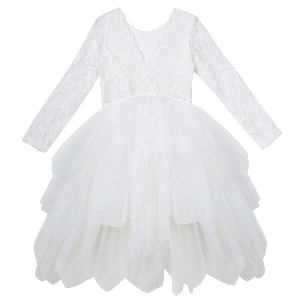 Load image into Gallery viewer, Sophie Long Sleeve Lace Bodice Tutu Dress Ivory