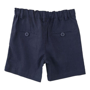 Load image into Gallery viewer, Toby Navy Linen Shorts
