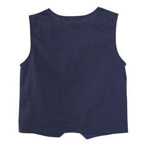 Load image into Gallery viewer, Toby Linen Vest Navy
