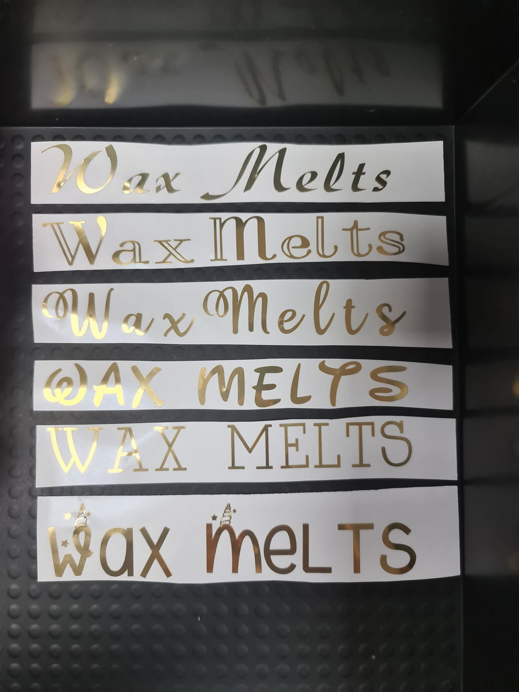 Vinyl Stickers - Wax Melts