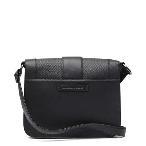 Harlequin Belle Solstice Shoulder Bag Black Leather