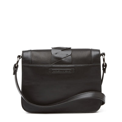 Harlequin Belle Leather Drift Shoulder Bag Black