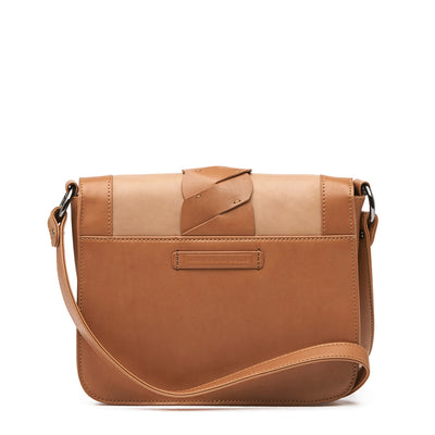 Harlequin Belle Leather Drift Shoulder Bag Tan Camel