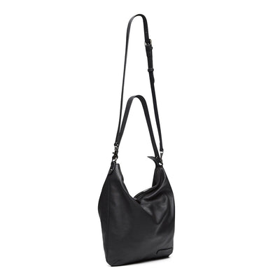 Harlequin Belle Endless Sunday Bag Black Leather
