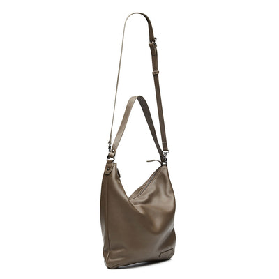 Harlequin Belle Endless Sunday Bag Taupe Leather