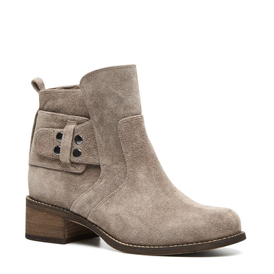 Harlequin Belle Cloudstomp Boot Taupe Leather