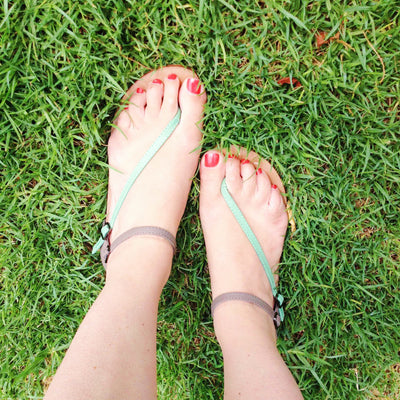 Daydreamer Sandal - Mint and Taupe