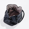 Harlequin Belle Moonrise Bag - Inside open large black leather women's handbag
