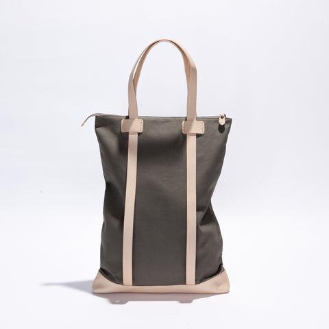Wanderlust Backpack Bag - Charcoal/Nude Canvas