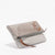 Harlequin Belle Triangle Foldover Clutch Purse Grey Taupe Leather