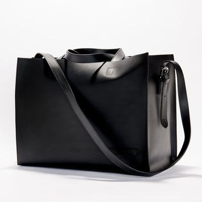 Harlequin Belle Downtown large leather women's bucket bag black