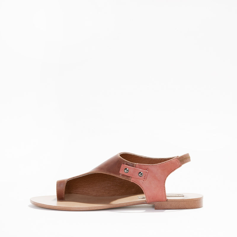 Harlequin Belle Origins Sandal Tan Melon Leather