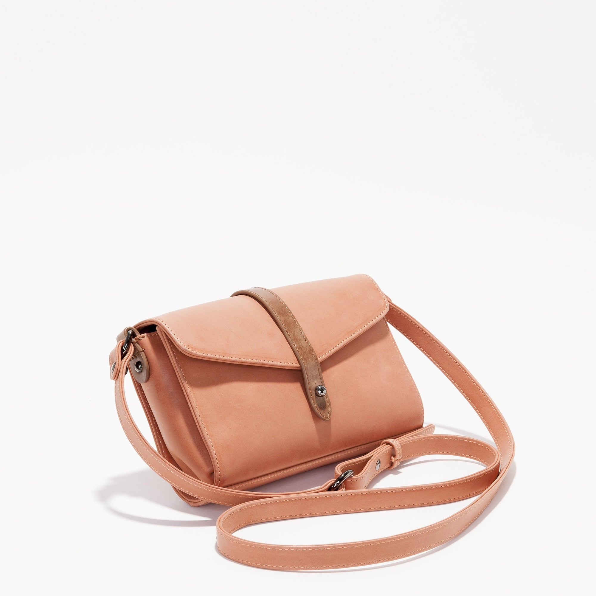 Harlequin Belle Trinity Shoulder Bag Purse Melon Tan Leather