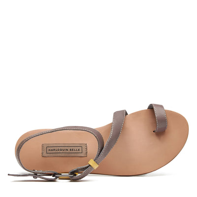 Harlequin Belle Dreamwalker Leather Sandal Taupe Sand