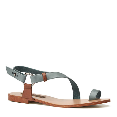 Harlequin Belle Dreamwalker Leather Sandal Denim Tan