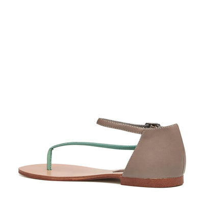 Harlequin Belle Daydreamer Leather Sandal Mint Taupe