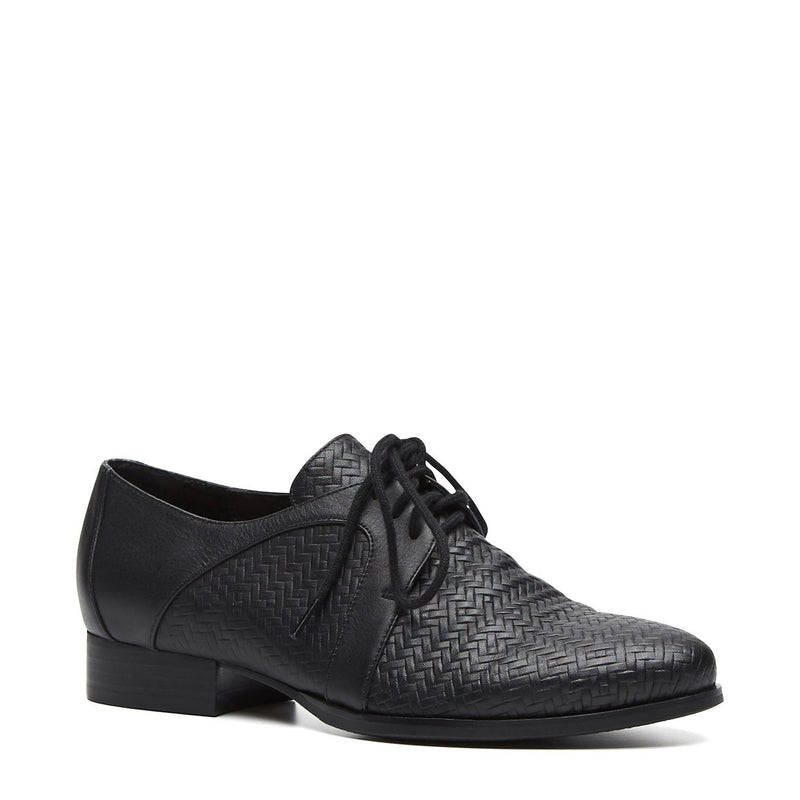 Harlequin Belle Laneway Laceup Shoes Brogues Black Leather