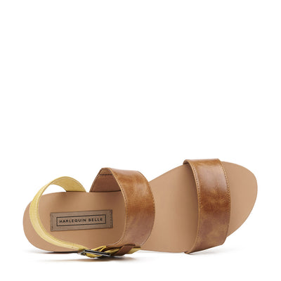 Harlequin Belle Roundabout Leather Sandal Sand Tan