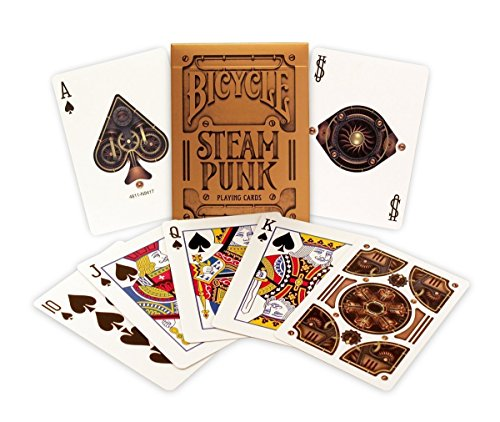 Gold Steampunk Playing Cards