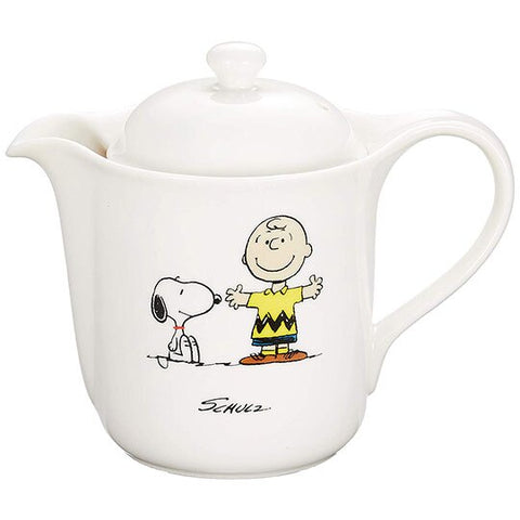 Snoopy with Charlie Teapot