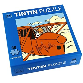 Tintin in the airplane