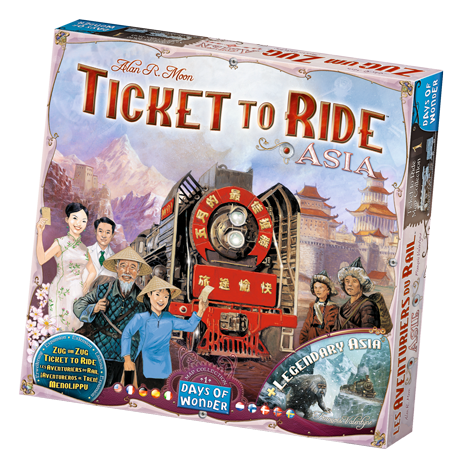 Ticket to Ride Asia Map
