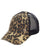 Leopard Ponytail hat with Distressing