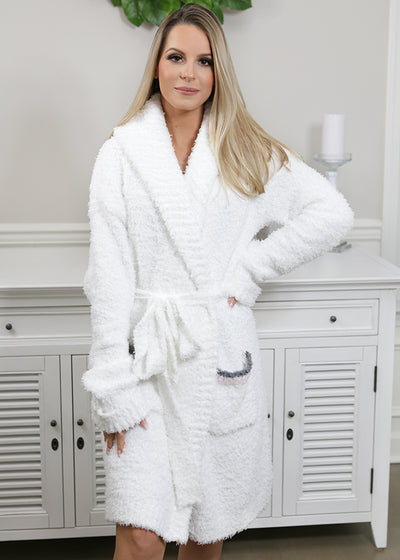 White spa robe