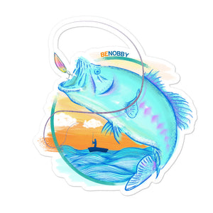 Sunset Fishing Bubble-free stickers