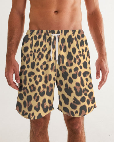 Leopard Fur Men's Swim Trunk - Denim By Fred