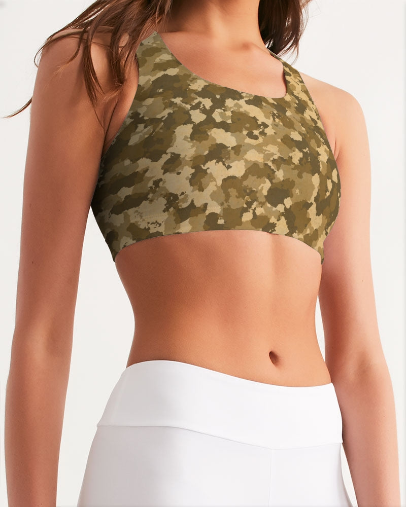 Military Pattern Women's Seamless Sports Bra